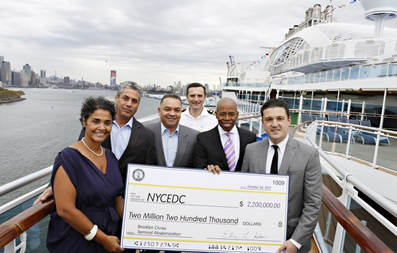 Borough President Adams Commits $2.2M to Brooklyn Cruise Terminal, Spurring $15 M commitment from Ports America to Increase Capacity for Larger Vessels, Modernize Cruise Operations