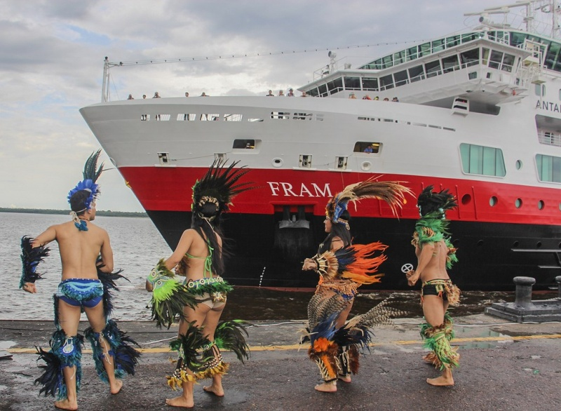 Manaus hosts the M/S Fram