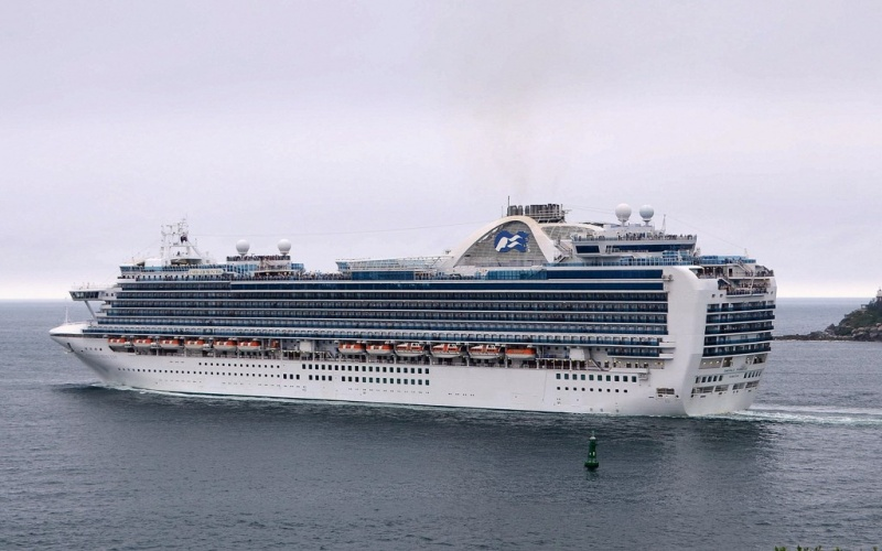 Emerald Princess Outbound from Sydney (Photo: Clyde Dickens)