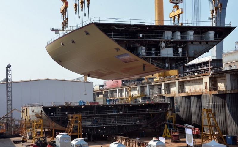 Celebrity Edge Keel Laying at STX