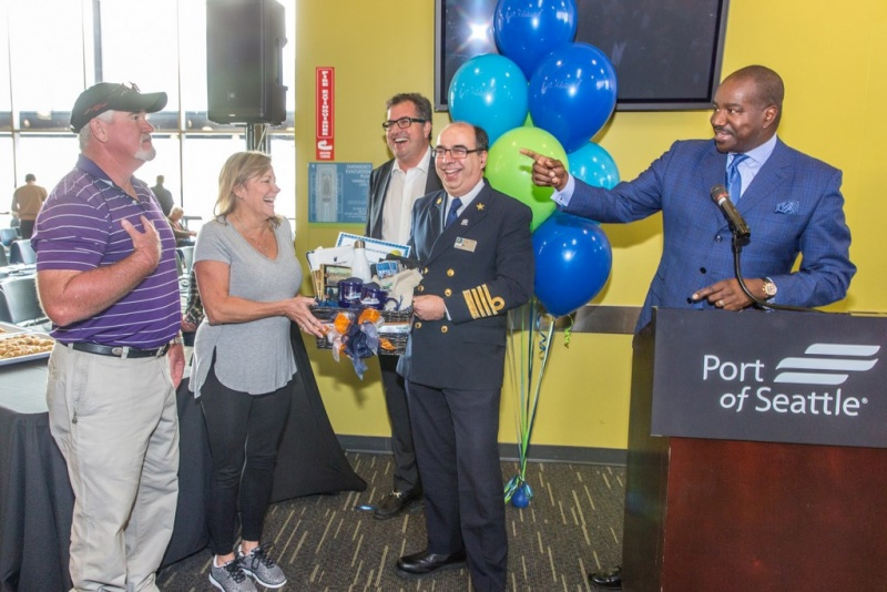 Orlando Ashford Welcomes Seattle's One-Millionth Cruise Passenger