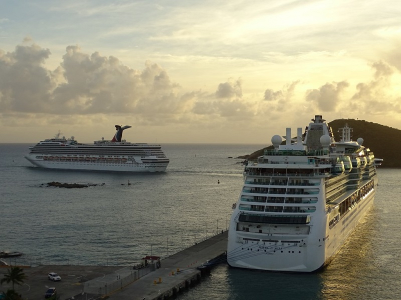 Carnival and Royal Caribbean Ships in Port (Photo: Sergio Ferreira)