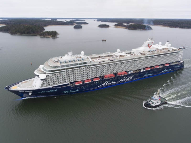 Mein Schiff 6 was delivered earlier this year from Meyer Turku