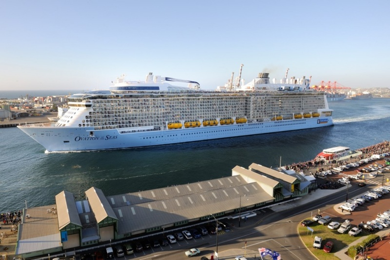 Ovation of the Seas arrives in Perth