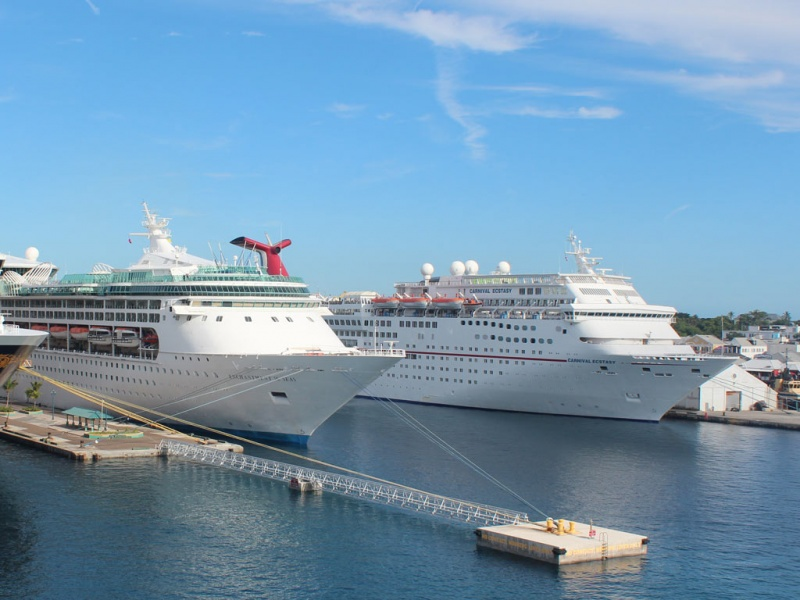 Cruise Ships in Port in Nassau