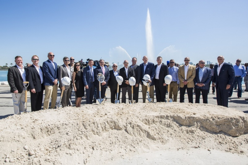 Terminal ground breaking at Port Miami