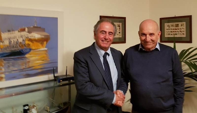 Giorgio Rizzo, Executive Vice President Fincantieri Services (left) and Emanuele Grimaldi, CEO of Grimaldi Group