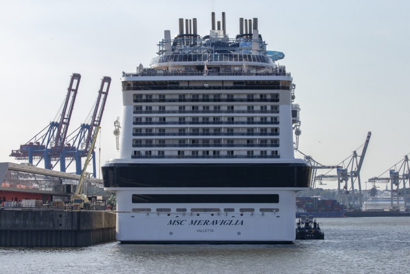 MSC Meraviglia at Hamburg Cruise Center Steinwerder