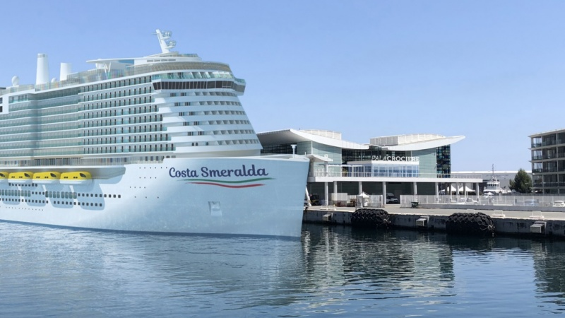 Rendering of the Costa Smeralda in Savona