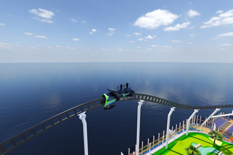 Carnival Roller Coaster at Sea