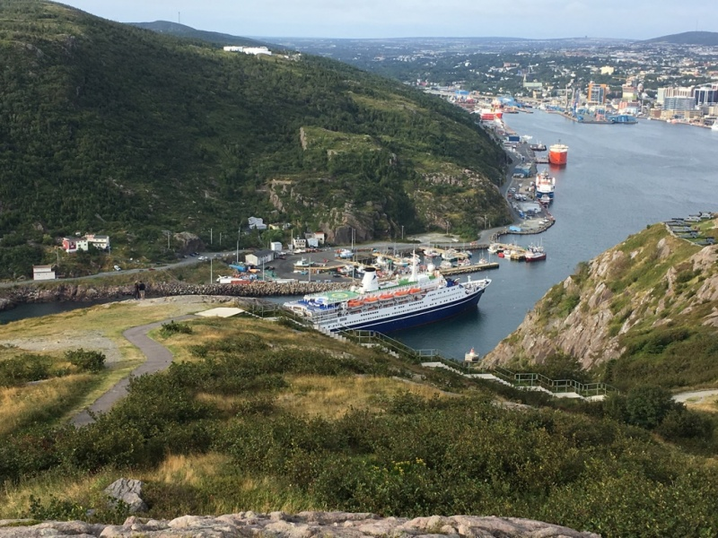 The Marco Polo departs a call in St. John's