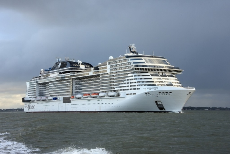 MSC Bellissima Departs from Chantiers de l'Atlantique For ...