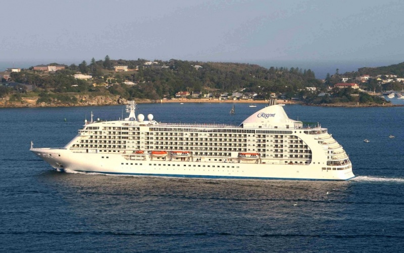 The 700-passenger Seven Seas Voyager joined Regent's fleet in 2003.