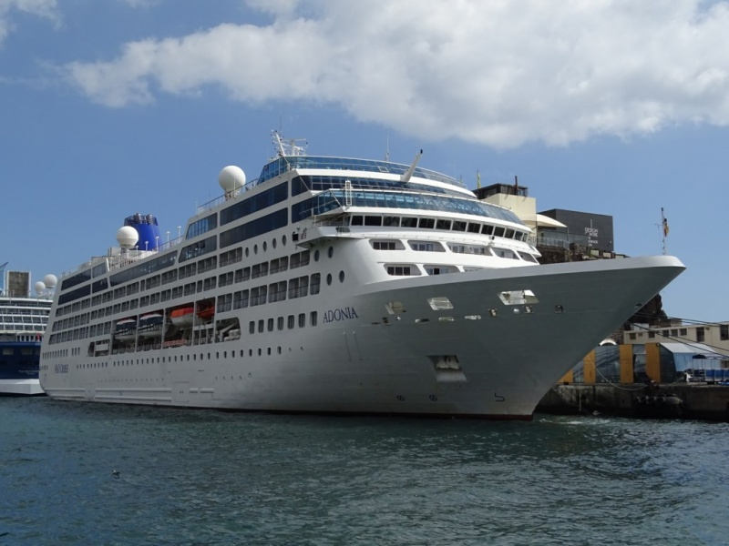 The P&O Adonia will soon become the Azamara Pursuit (Photo: Sergio Ferreira)