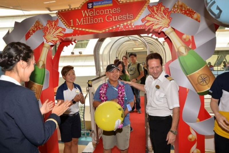 Royal Caribbean International today reached a new milestone by welcoming its millionth guest sailing from Singapore – a momentous way to kick start 2018 which is its 11th year of operation in Asia.