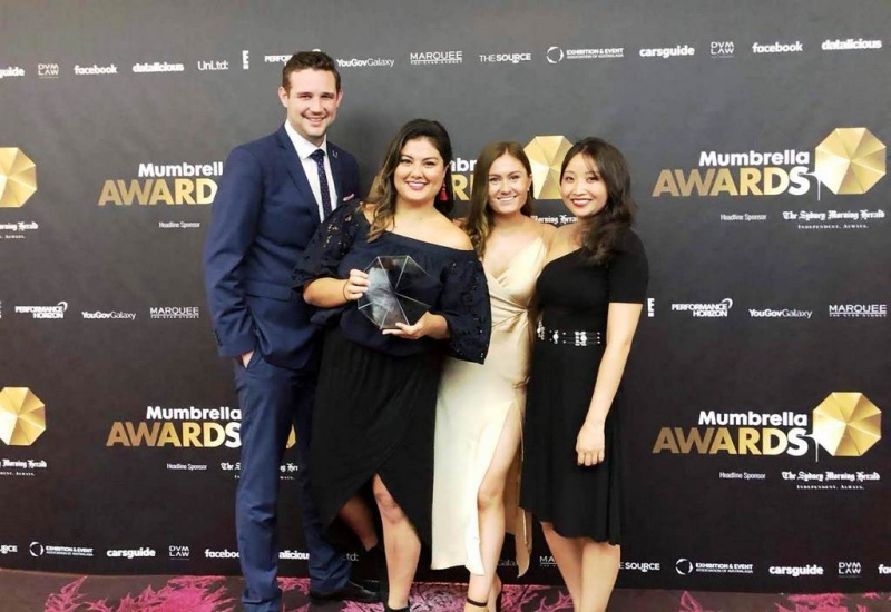 In addition to the awards, the digital team, Mike Ainsworth (not pictured) and (l to r), James McKeown, Meg Wilson, Madeline Wong and Georgia Elliott,are driving the commercial success of P&O's online site.