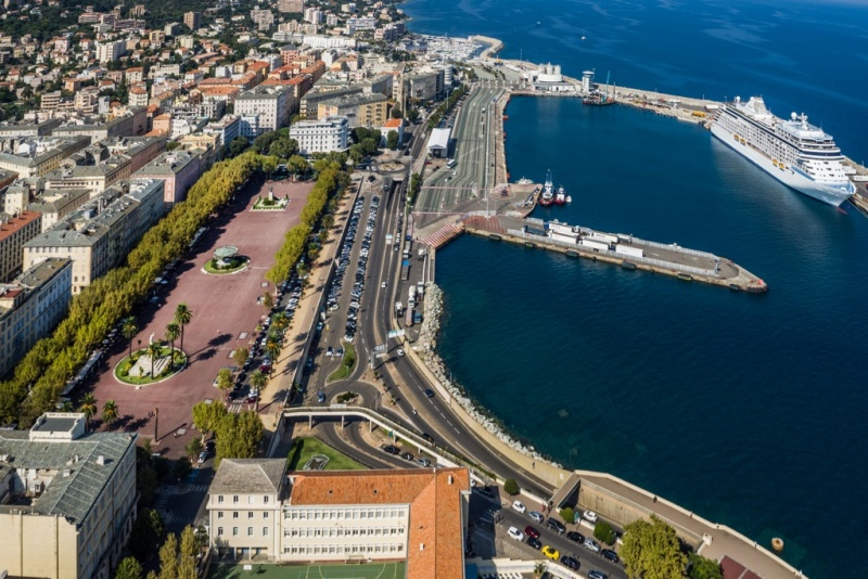 Bastia offers a traditional cruise berth.