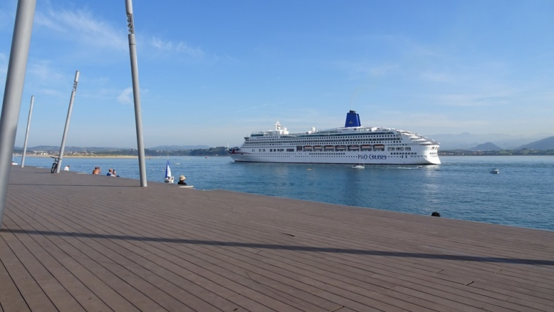 P&O's 1995-built Aurora in the Spanish Port of Santander
