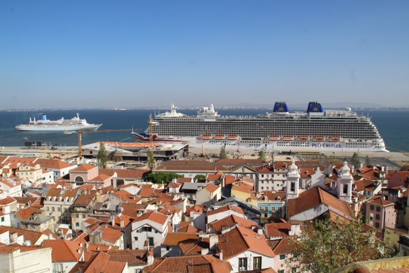 The P&O Britannia and Marella Spirit in Lisbon