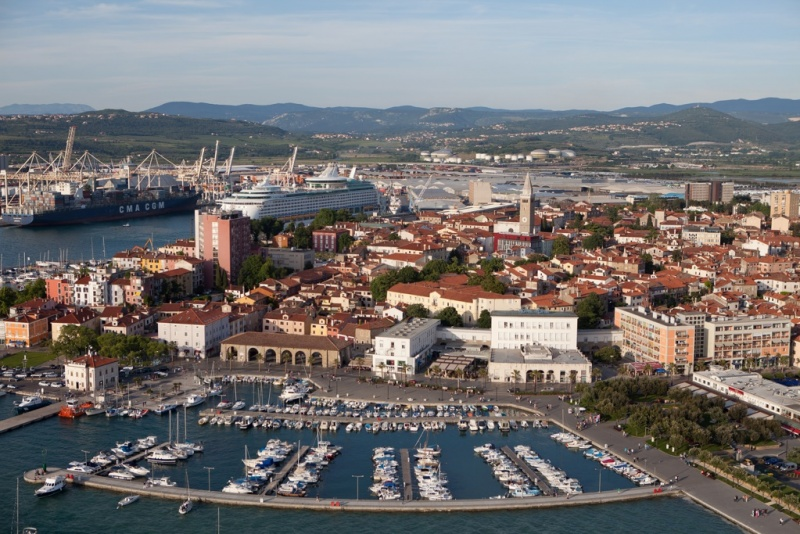 Docked in downtown Koper
