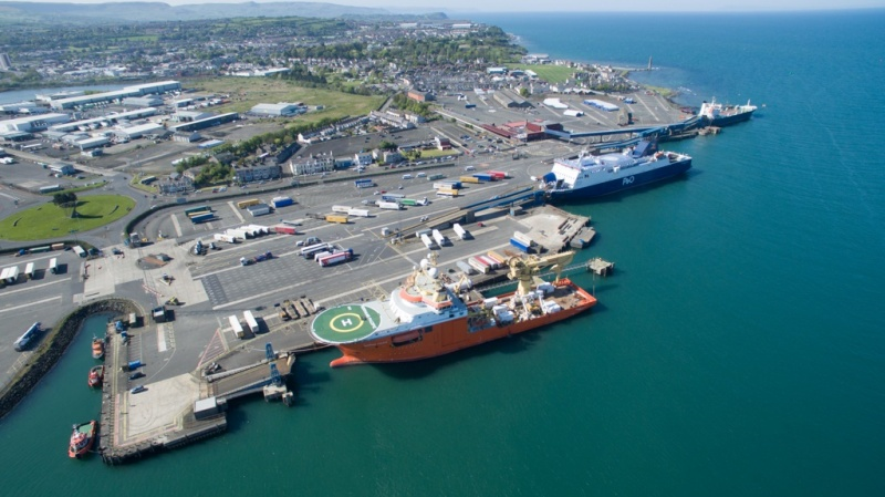 There is plenty of room for small- and mid-size cruise ships in Larne