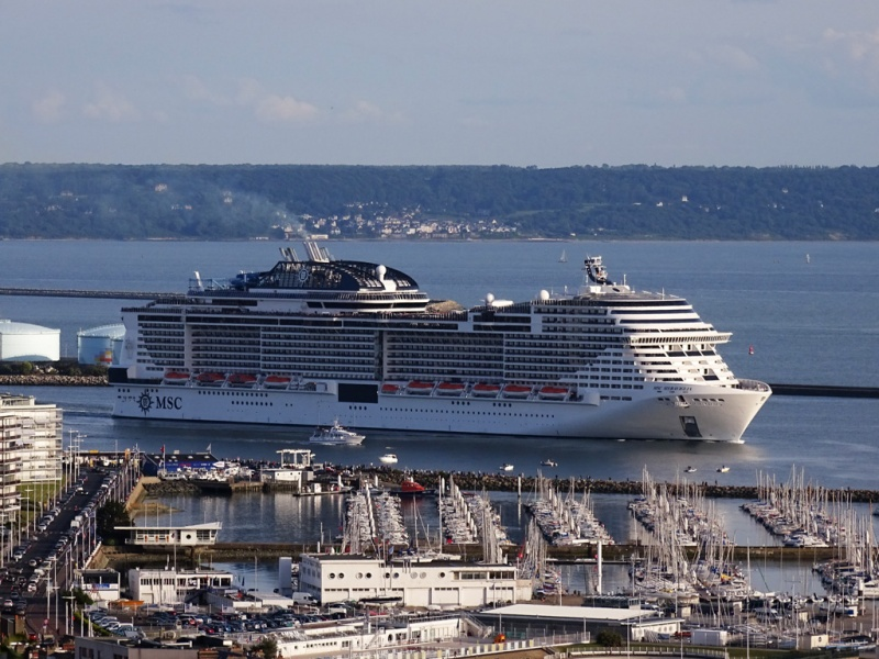 MSC named its new Meraviglia last year in Le Havre
