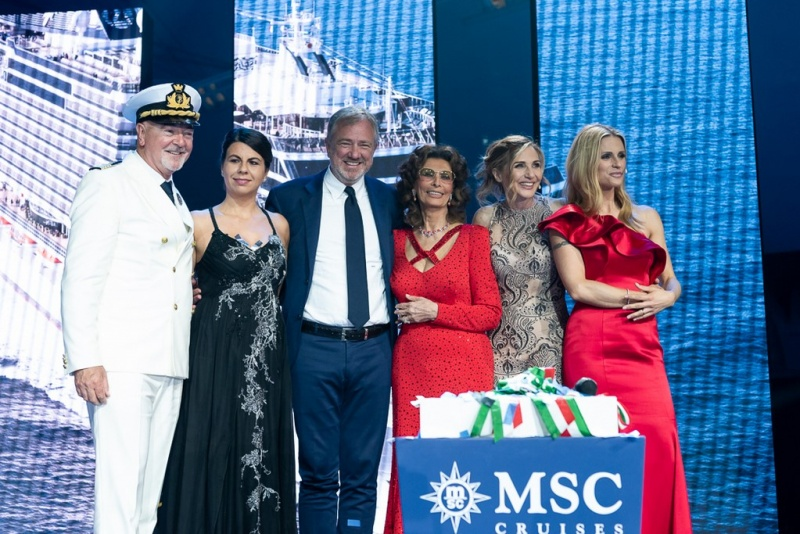 From the christening of the MSC Seaview