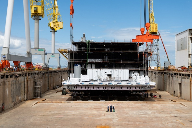 Keel Laying of the Seven Seas Splendor