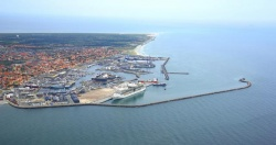 The expansive harbor in Skagen