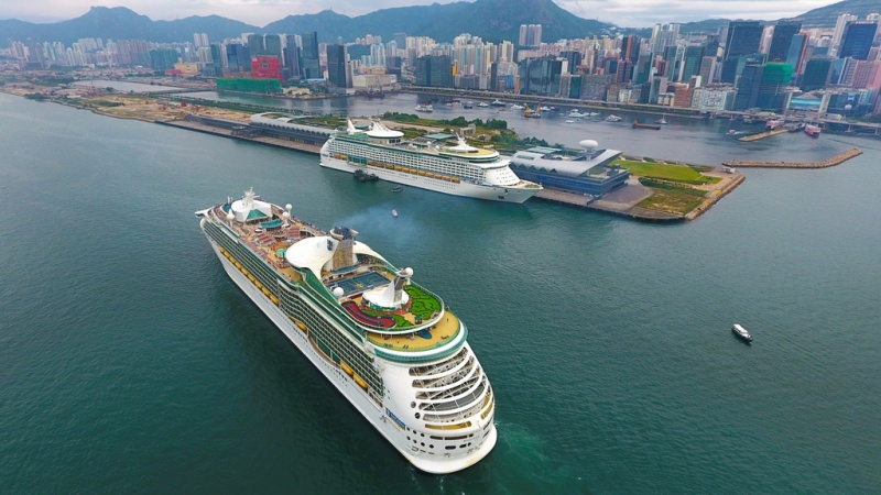 Double Royal Caribbean call at Kai Tak