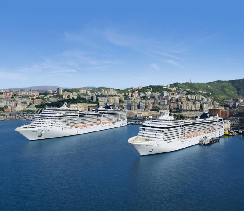 Double MSC Call in Genoa