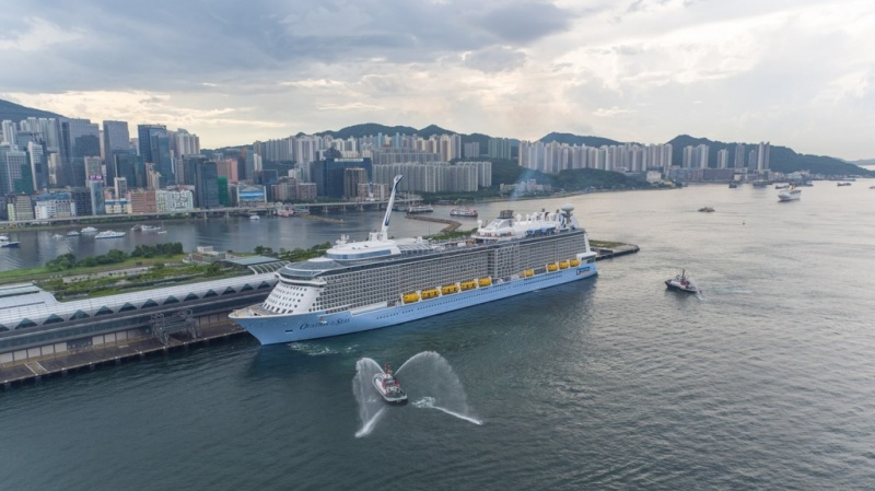 Ovation of the Seas in Hong Kong