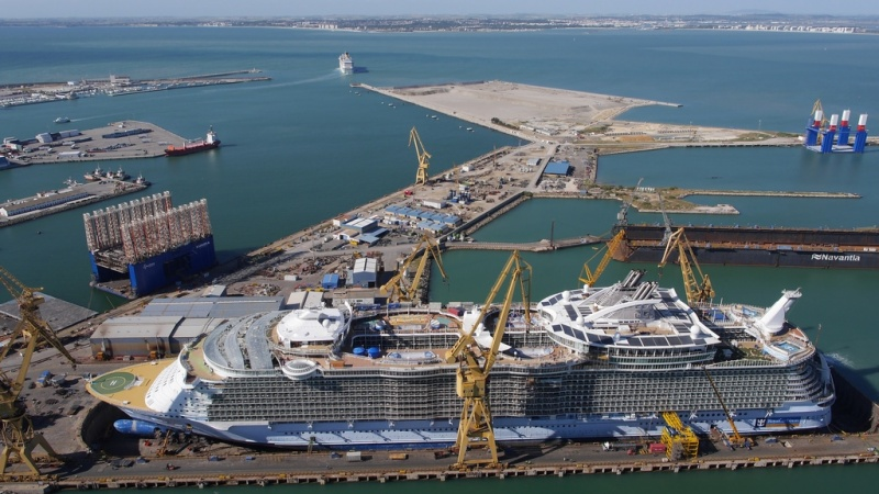 Allure of the Seas at Navantia