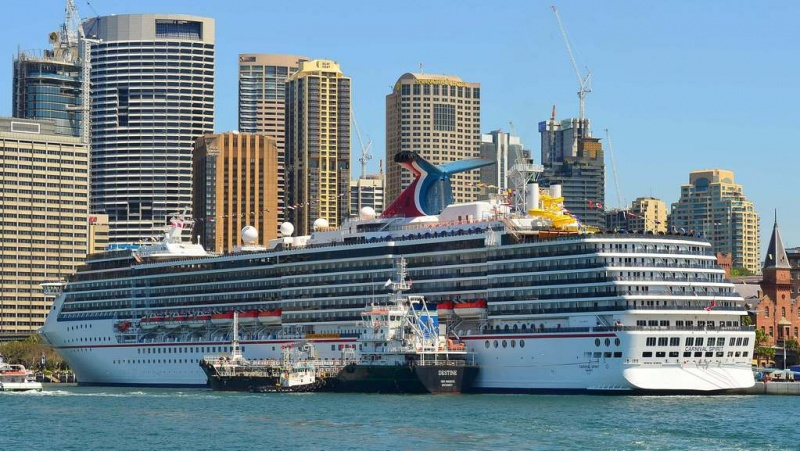 Carnival Spirit docked in Sydney