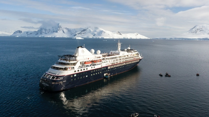 Silver Cloud in Antarctica