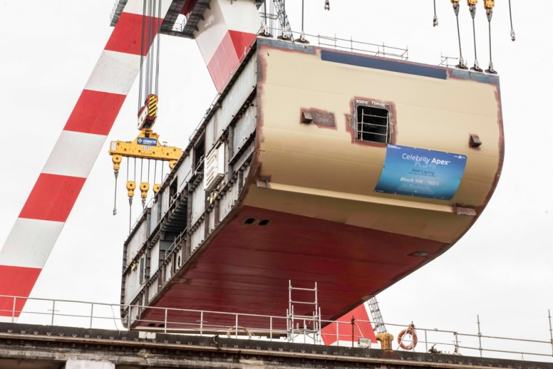 From the keel-laying of the Celebrity Apex