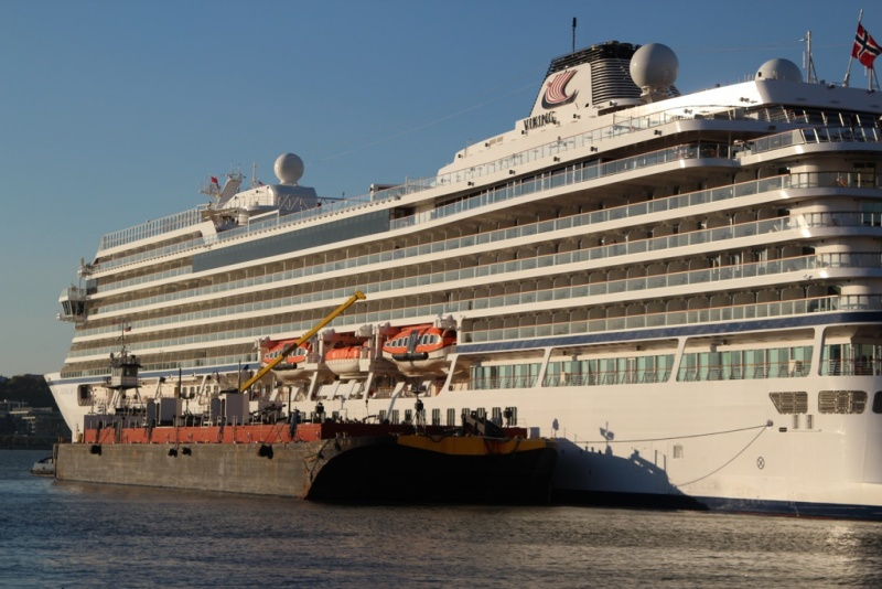 Viking Sky Bunkering Operation in New York