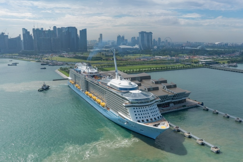 Ovation of the Seas at Marina Bay Cruise Centre