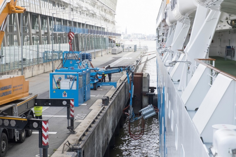 Connecting to Shorepower in Hamburg