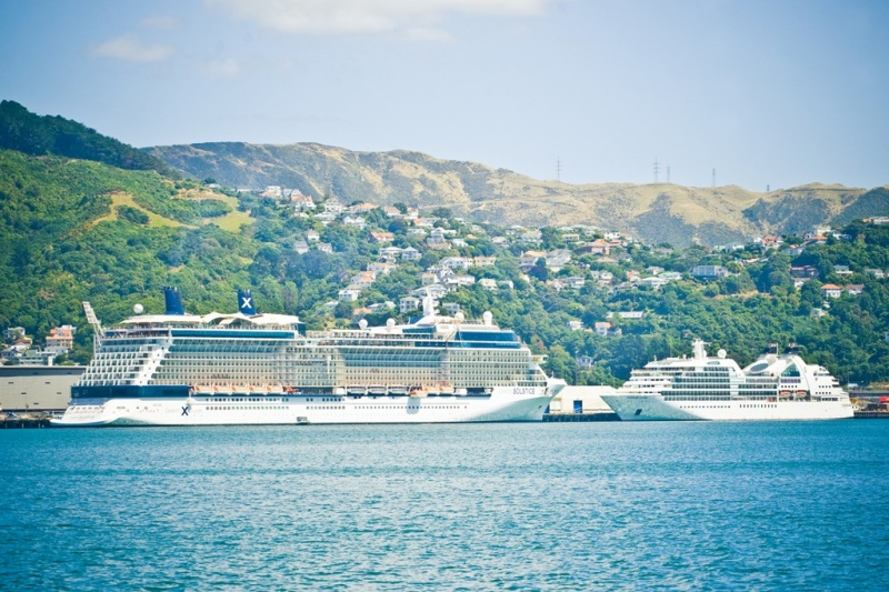 Celebrity and Seabourn ships call in CentrePort Wellington