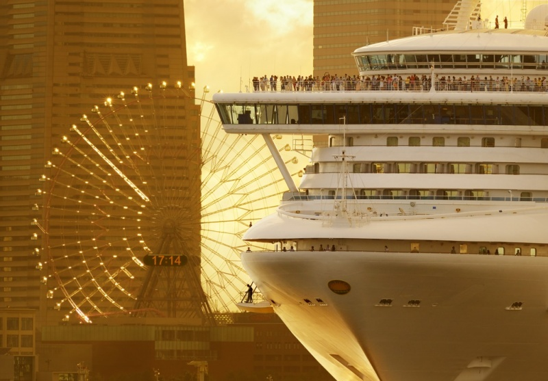 Soon to be deployed year-round in Japan, the Diamond Princess is a frequent visitor in Yokohama.