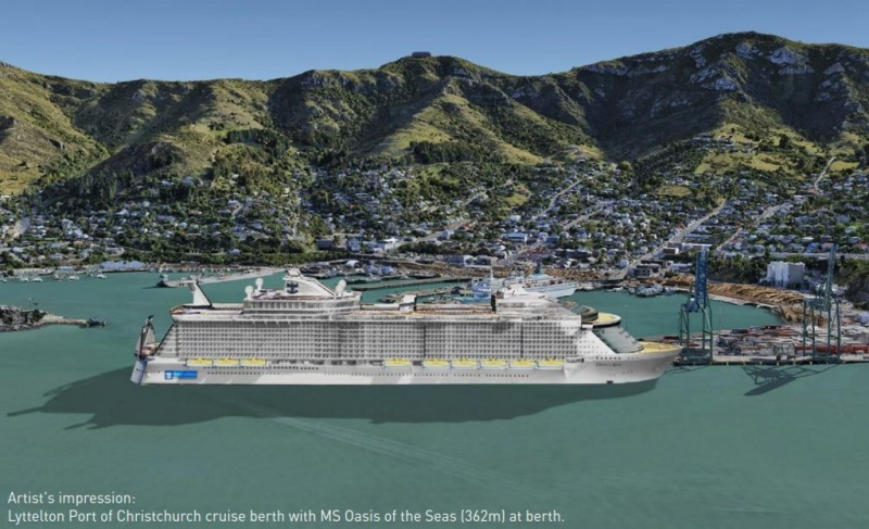 Artist's rendering of a new cruise facility in Lyttleton
