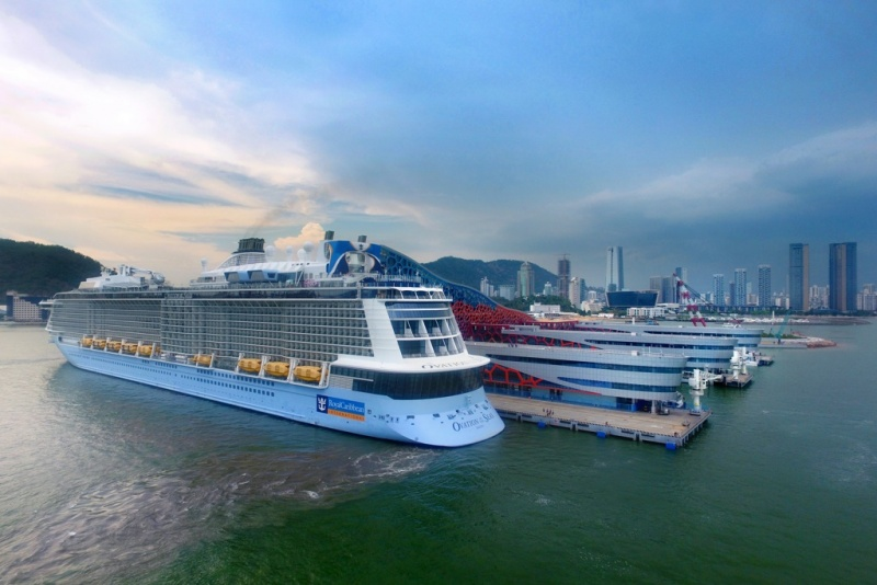 Ovation of the Seas docked in Shenzhen