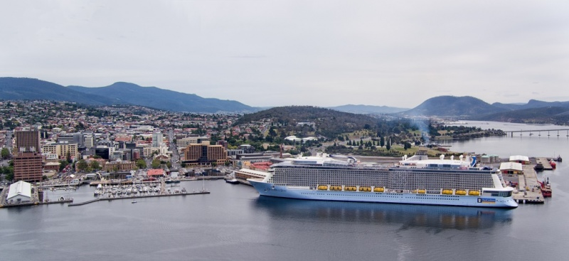 It was a big day in Tasmania when the Ovation of the Seas arrived in Hobart.