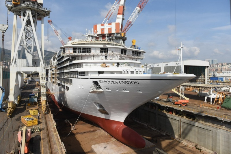 The Seabourn Ovation at Fincantieri