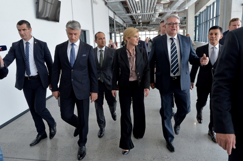 Inauguration of new passenger terminal at Zadar Cruise Port with Božidar Longin, Stephen Xuereb, Kolinda Grabar-Kitarović, Robert Škifić and Barbaros Ozakan