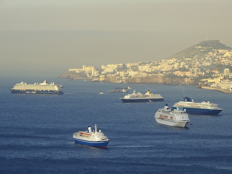 Ships in Funchal for New Year's Eve