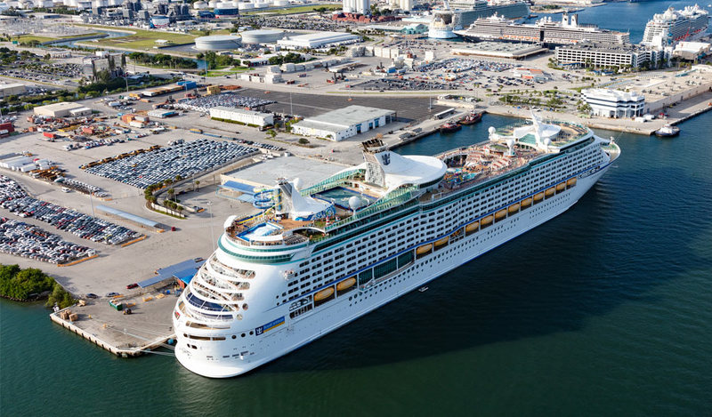 Royal Caribbean Ship in Port Everglades