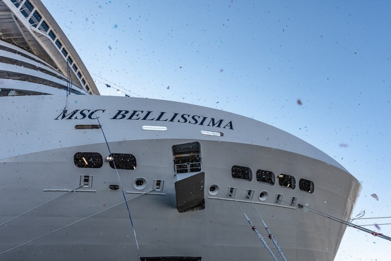 From the delivery of the MSC Bellissima
