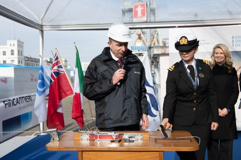Princess Ceremony at Fincantieri